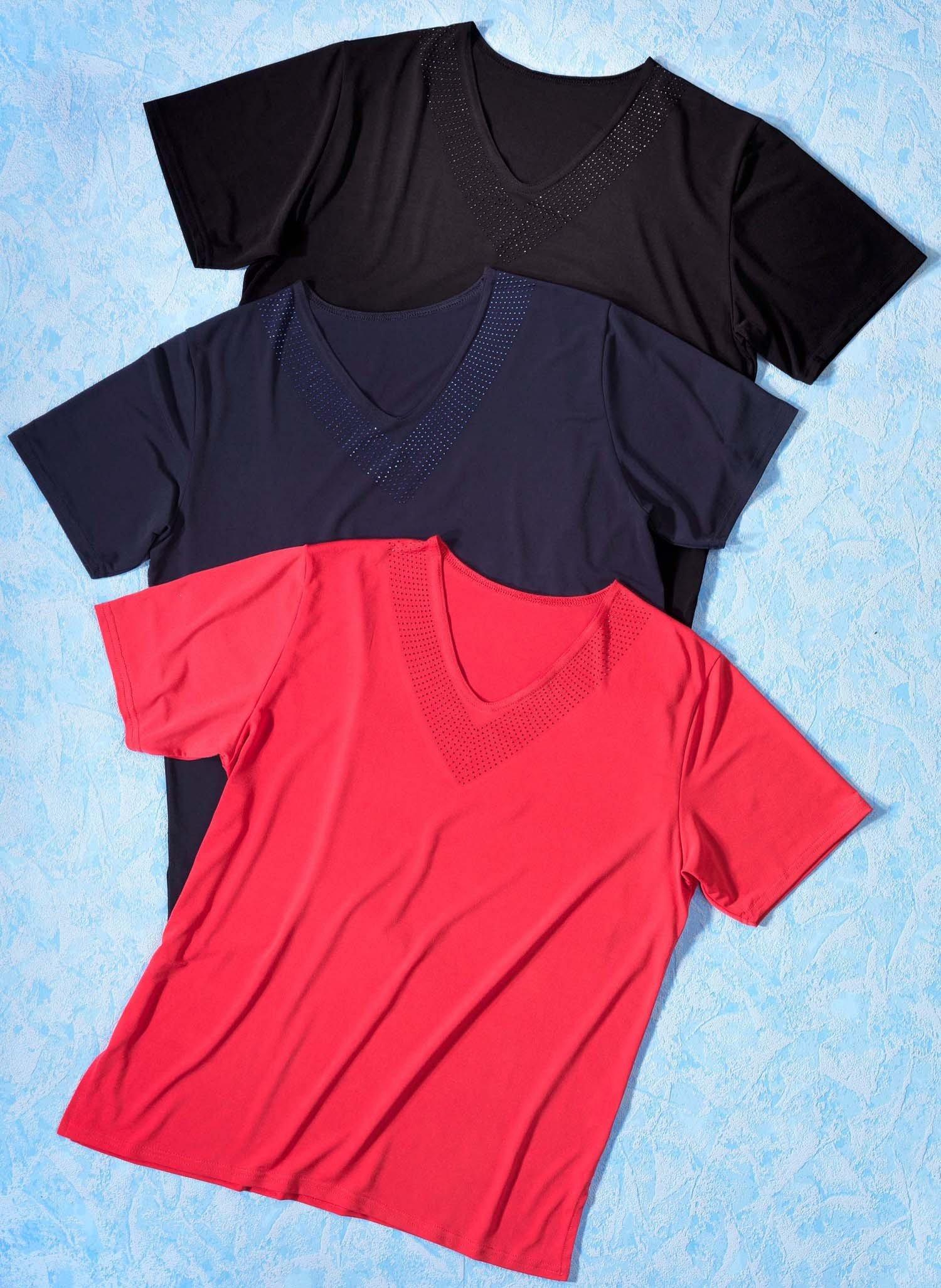 D-KA-Shirt,V-Ausschnitt schw. L 010 - 2 - Ronja.ch