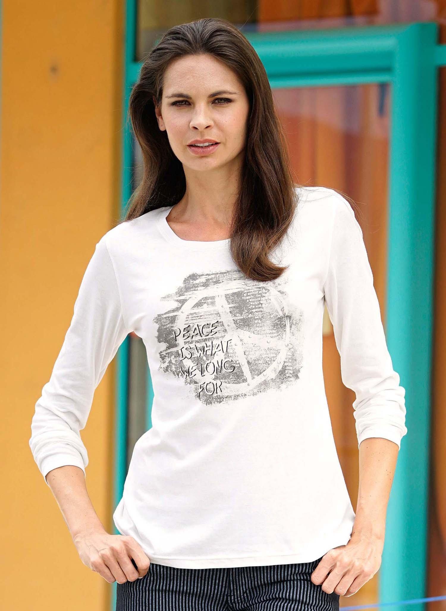 """D-LA-Shirt,""""PEACE""""offwhite L 212 - 1 - Ronja.ch"""