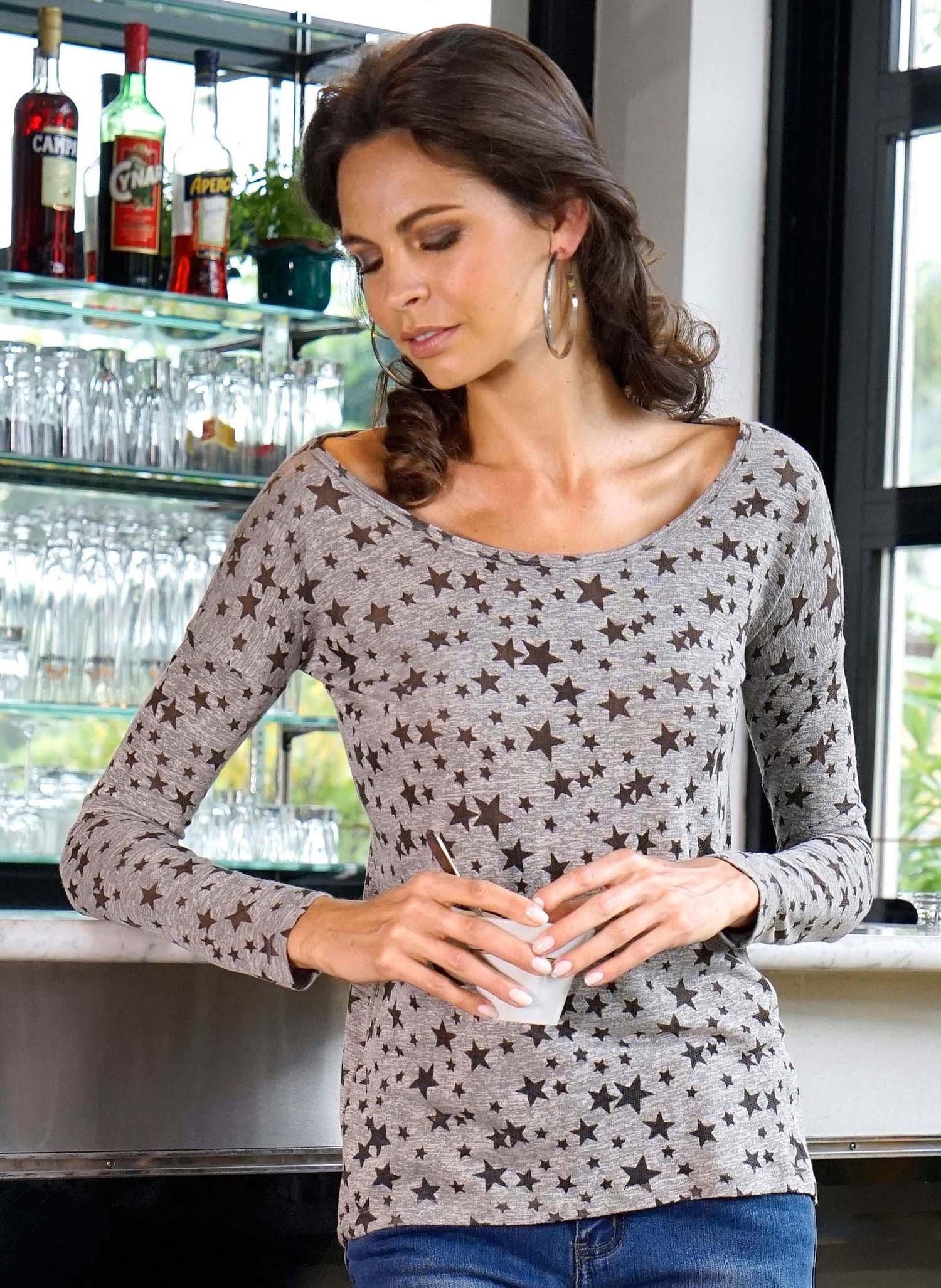 D-LA-Shirt,Sternen grau L 003 - 1 - Ronja.ch
