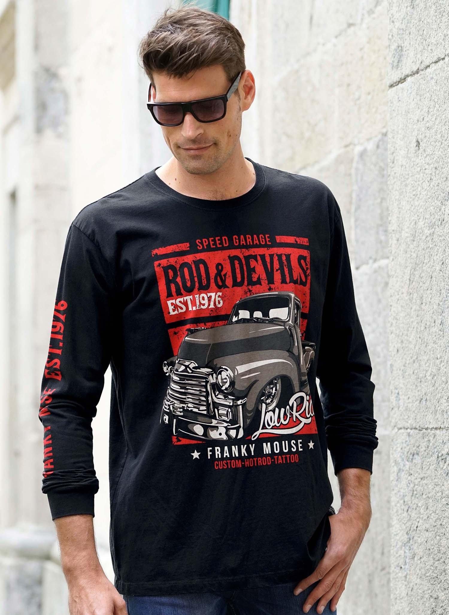 "H-LA-Shirt""ROD&DEVILS""schwarz L 010 - 1 - Ronja.ch"