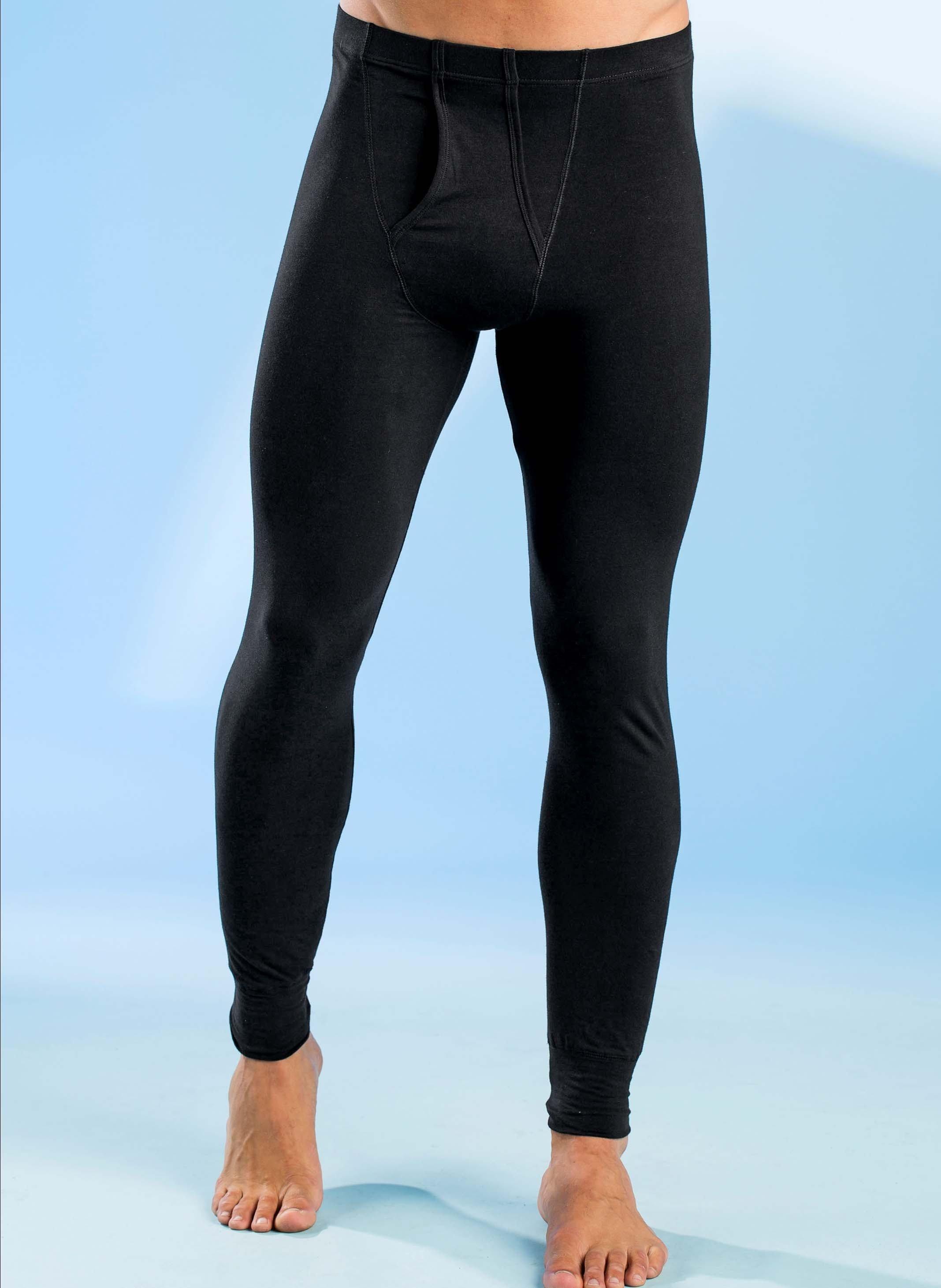 H-Unterhose-lang,schwarz 2er-S L 010