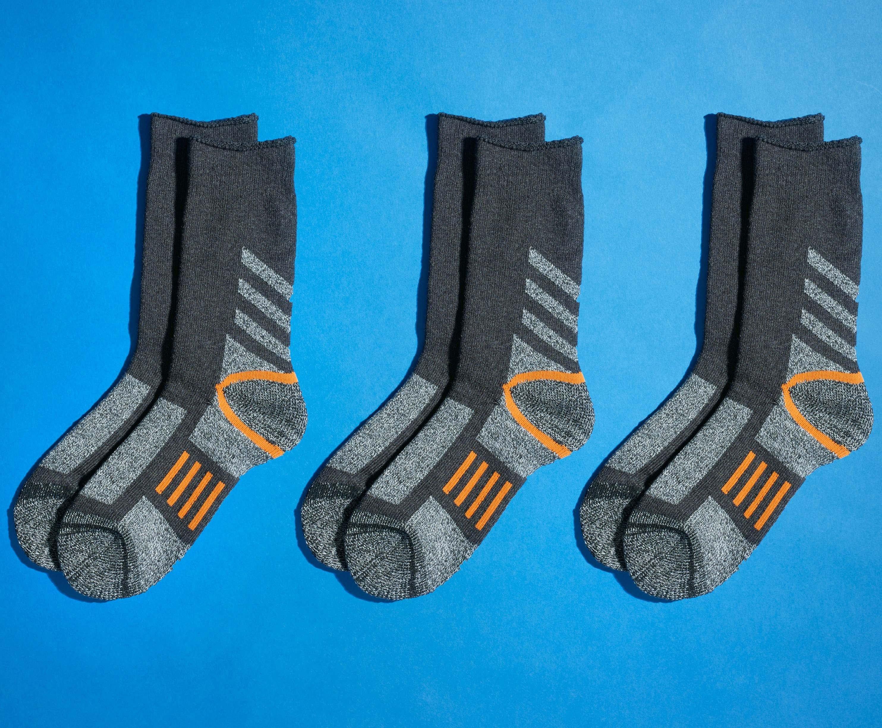 Trekking-Socken mit Zonenverstärkung, 3 Stück