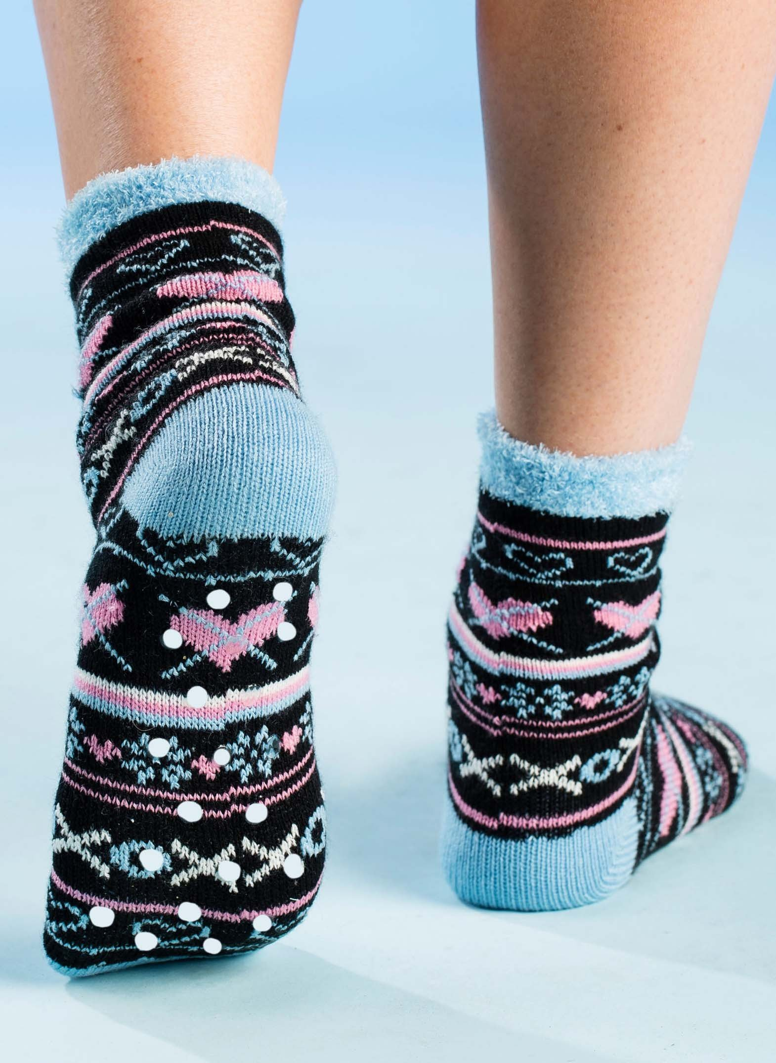 D-Haus-Socken,3er-S.ciel/pink 3538 051
