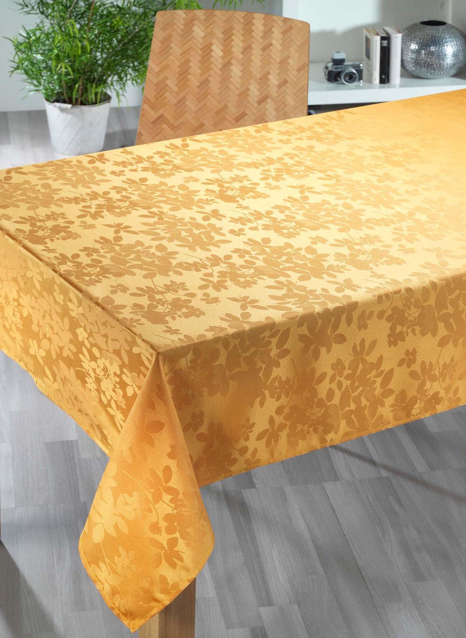 """Tischdecke""""NIZZA""""140x180 gold"""