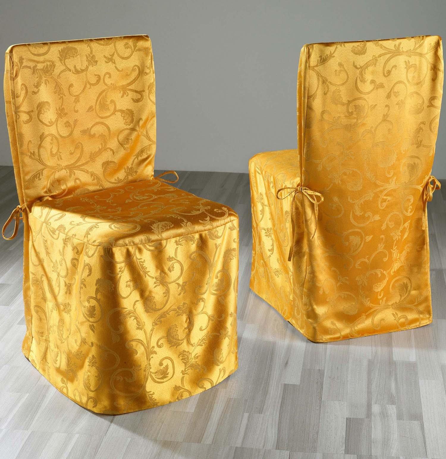 "Stuhl-Überzug""Jacq.""2St.gold"
