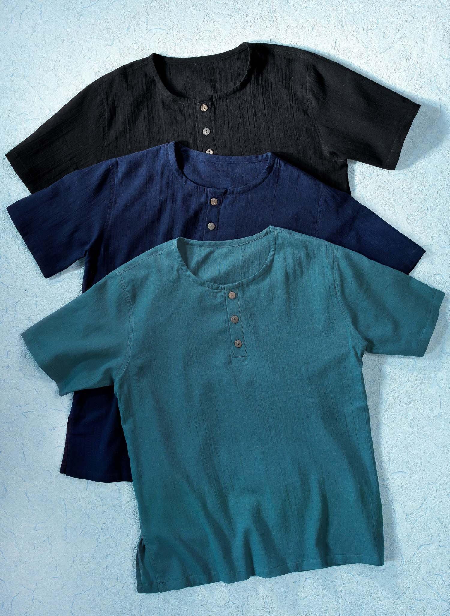 H-KA-Shirt-Hemd,Knöpfe schwarz L 010 - 2 - Ronja.ch