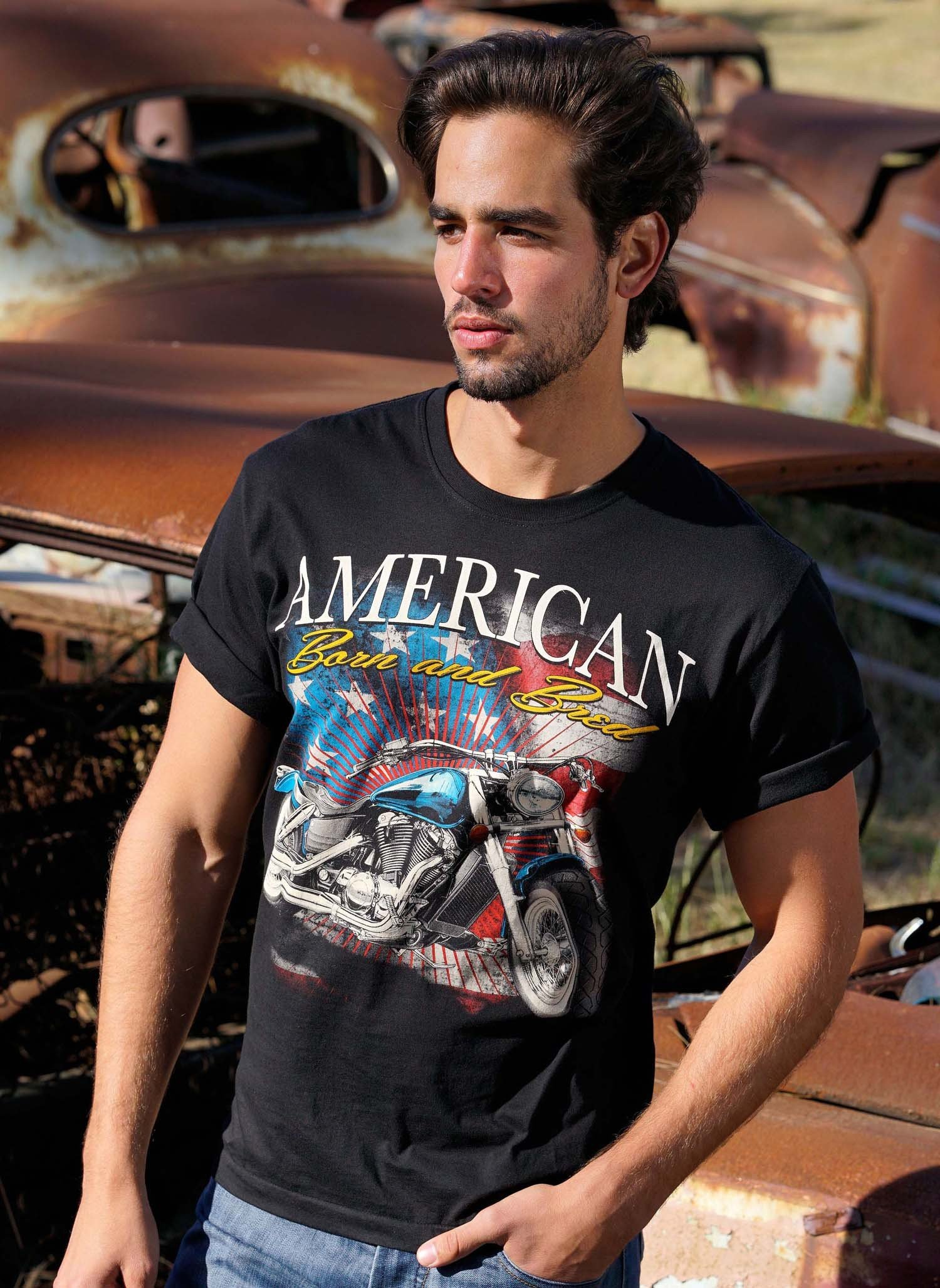 "H-KA-Shirt ""AMERICAN"" schwarz L 010 - 1 - Ronja.ch"