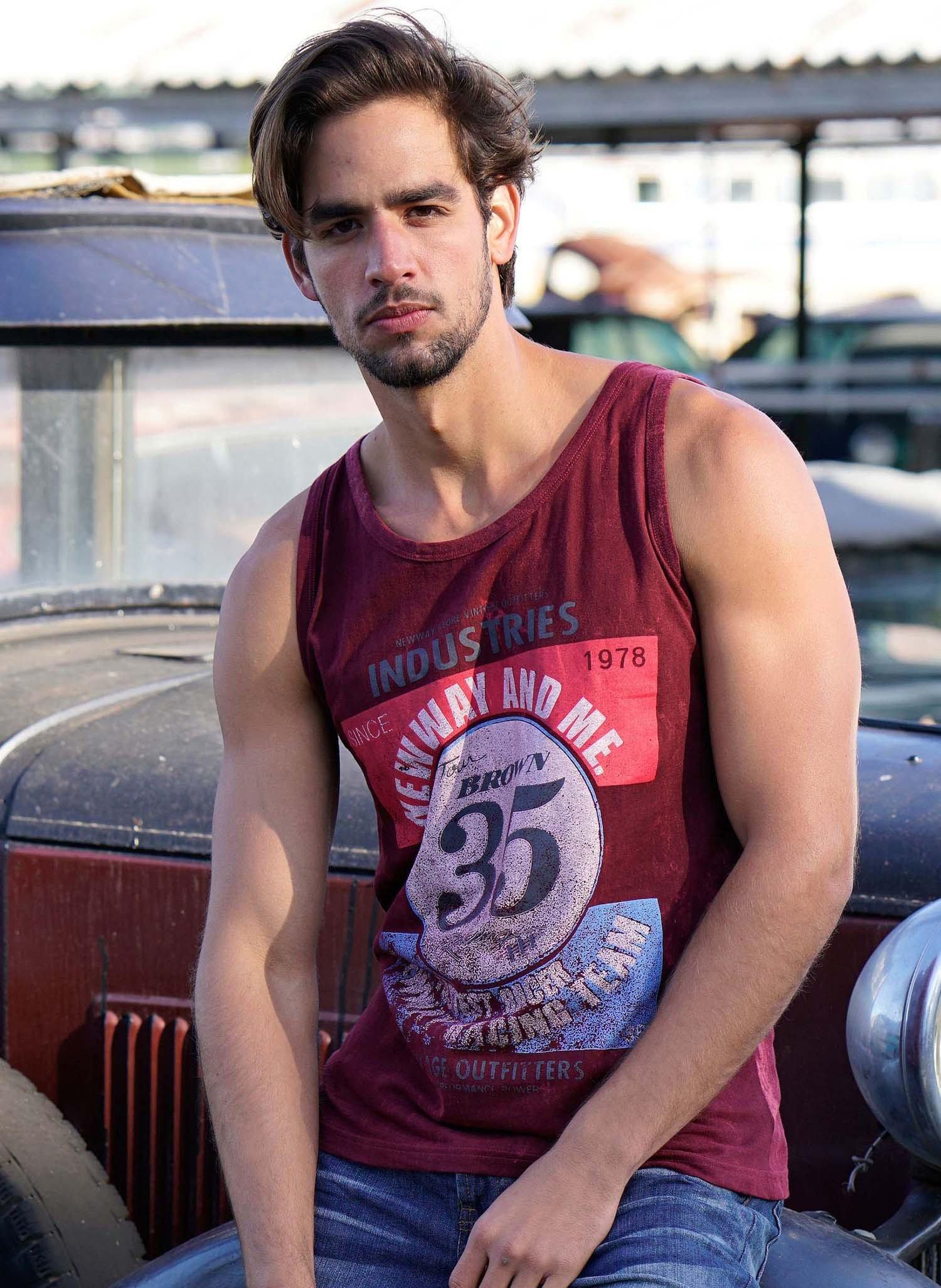 """H-Muskel-Shirt,""""Nr.35""""bordeaux L 032 - 1 - Ronja.ch"""
