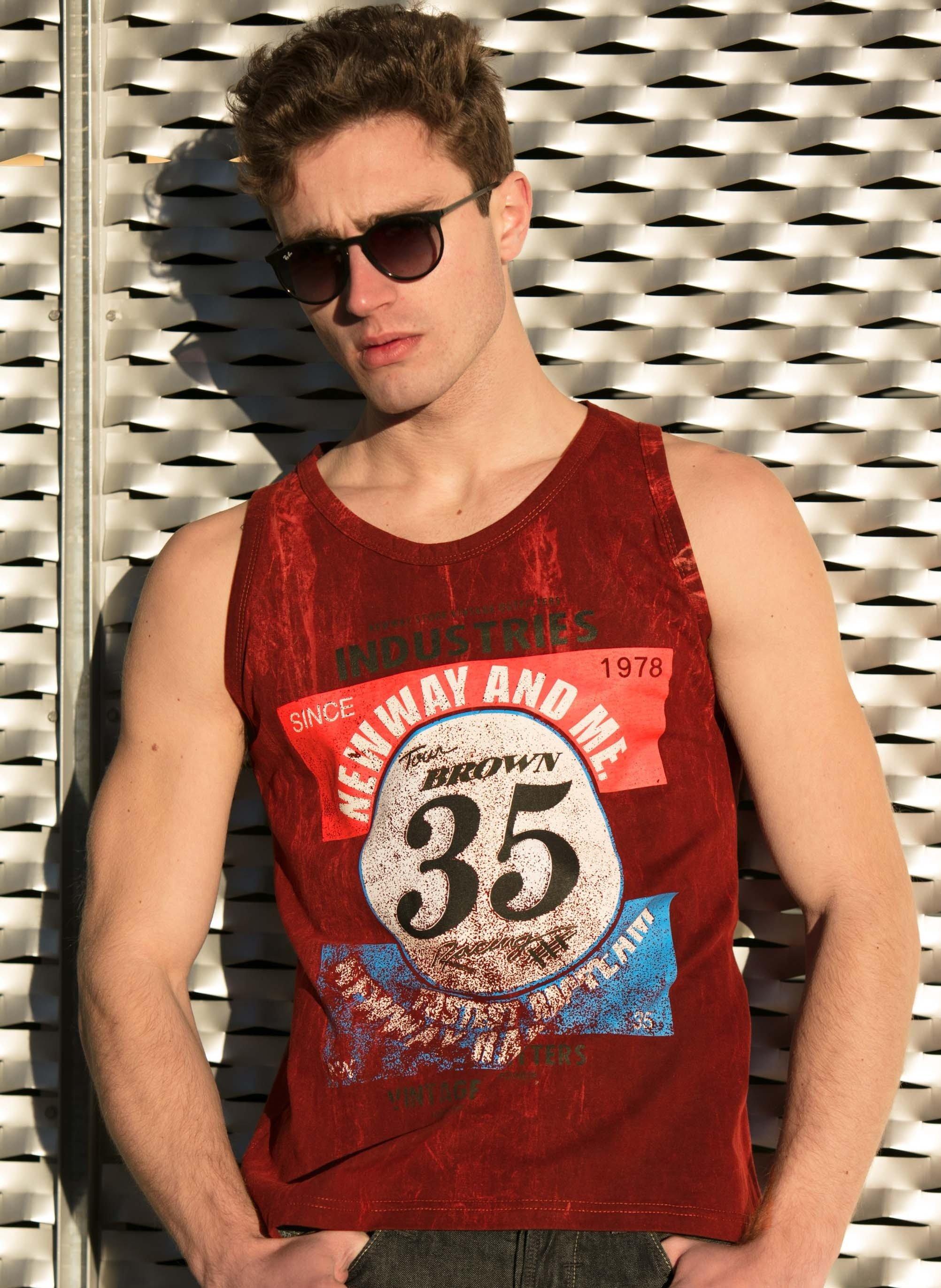 """H-Muskel-Shirt,""""Nr.35""""bordeaux L 032"""