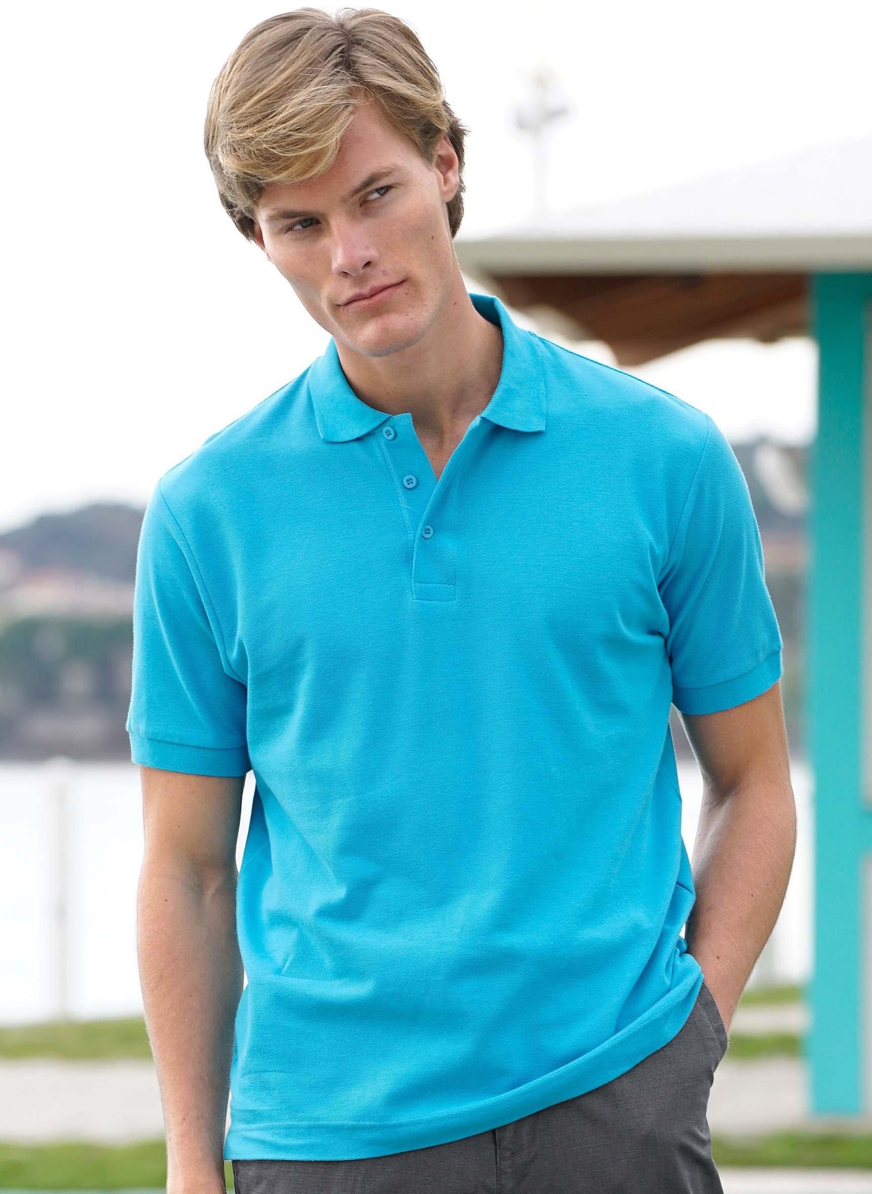 Polo-Piqué-Shirt, Seitenschlitze