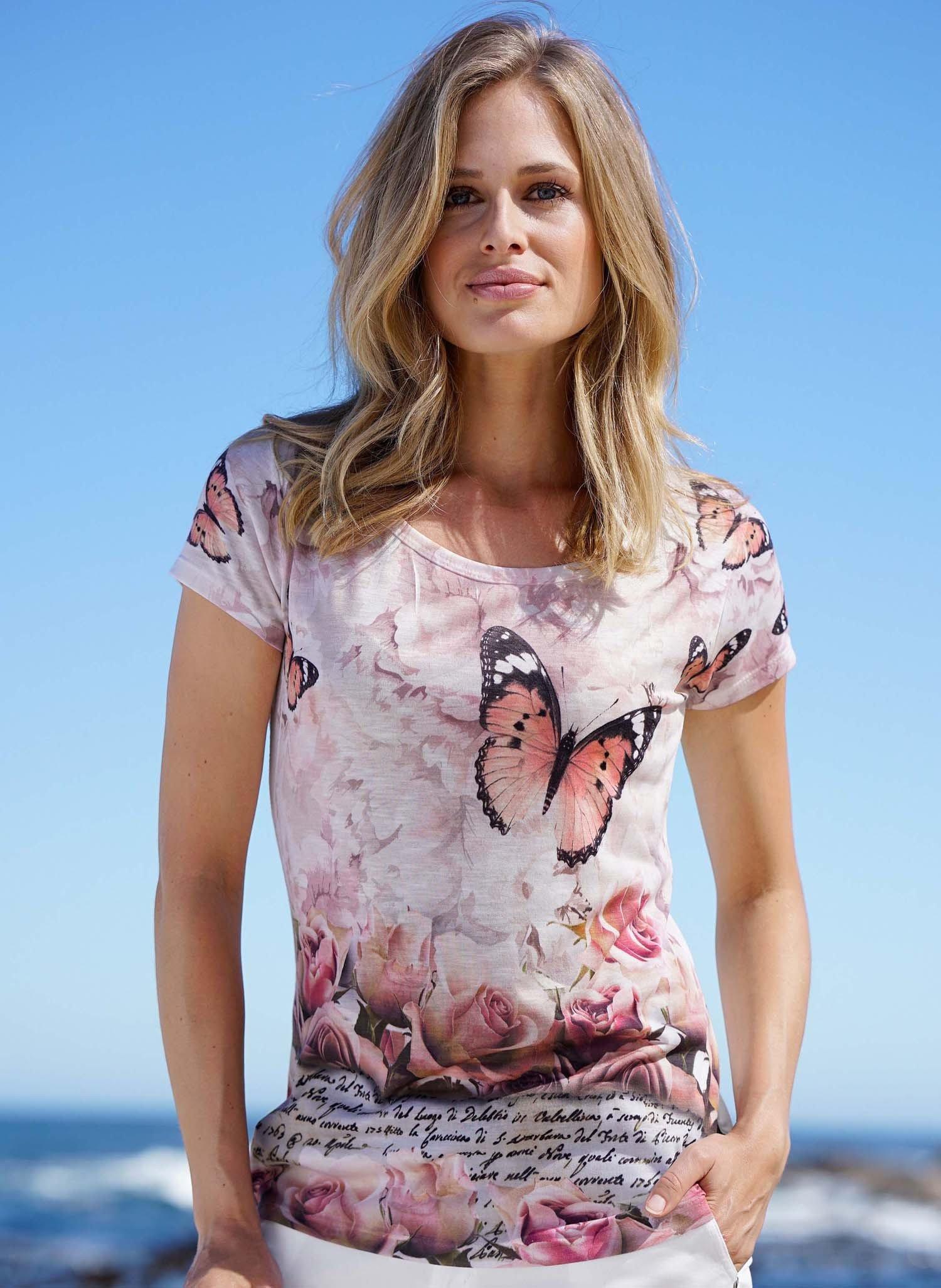 D-KA-Shirt,Schmetterling beige L 008 - 1 - Ronja.ch