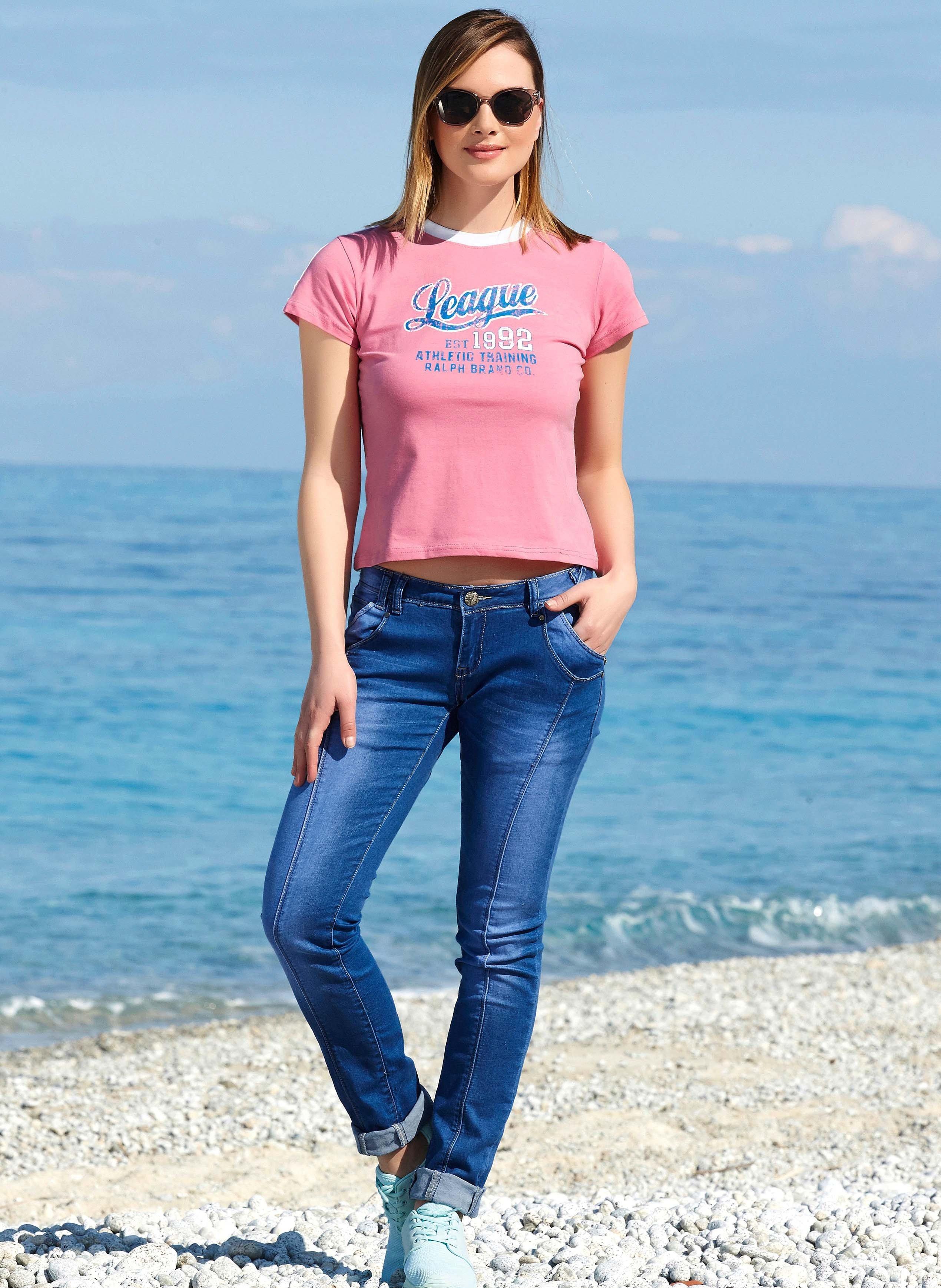 6-Pocket-Jeans Röhrliform