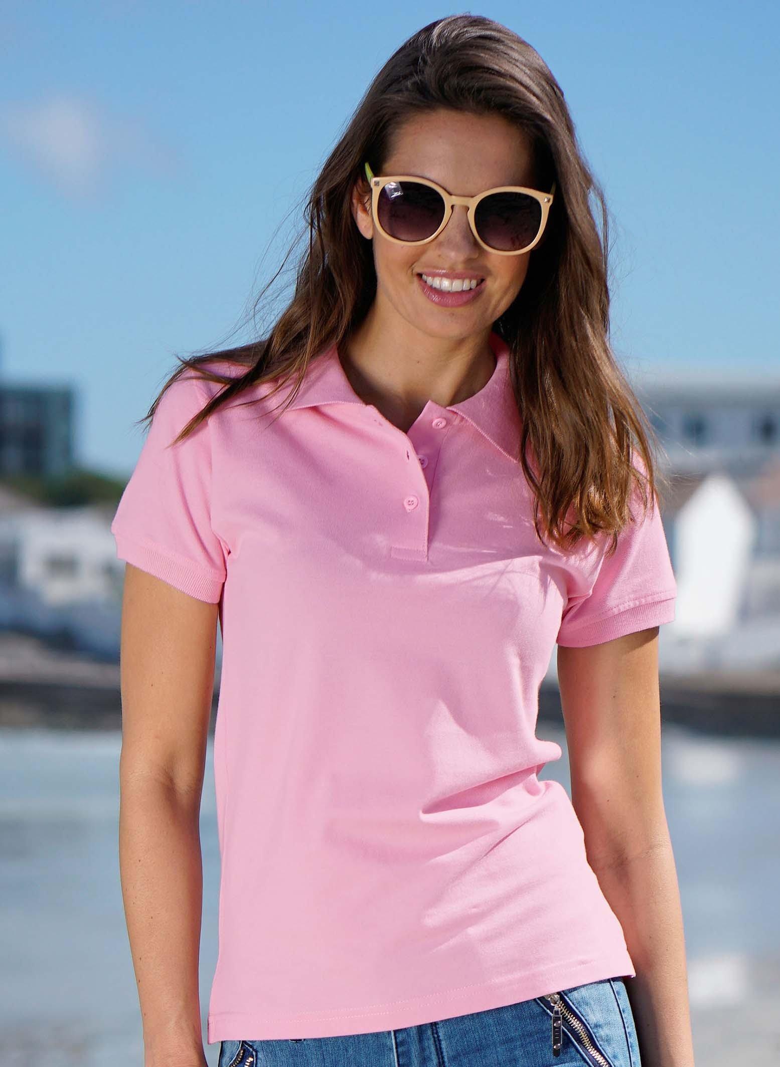 Piqué-Polo-Shirt, kleine Knopfleiste
