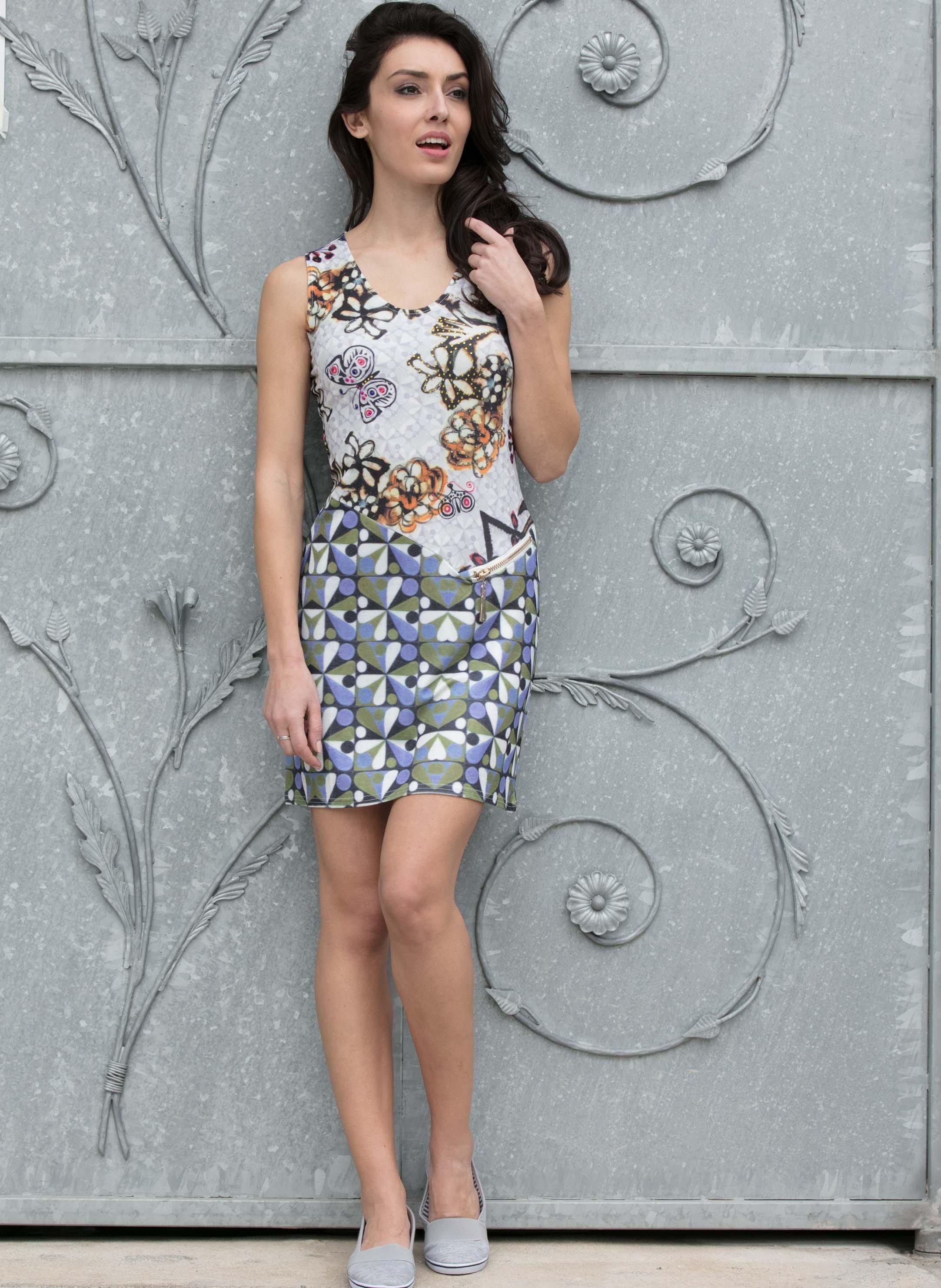 Kleid farbige Strass-Steine