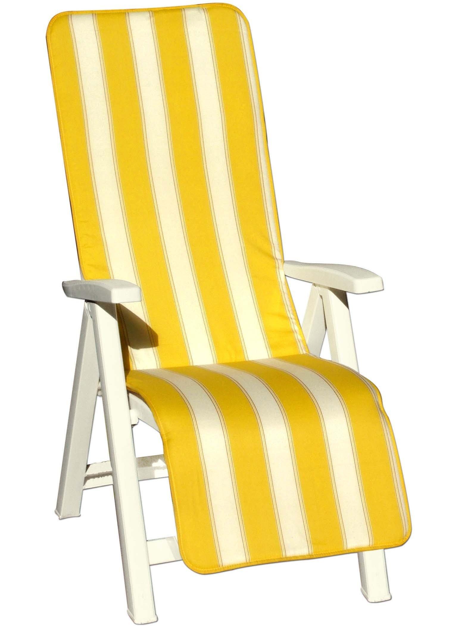 Polster für Liegestuhl gelb