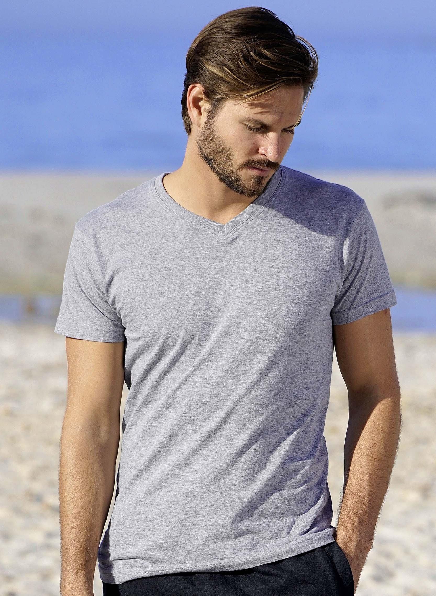 Kurzarm-Shirt V-Ausschnitt