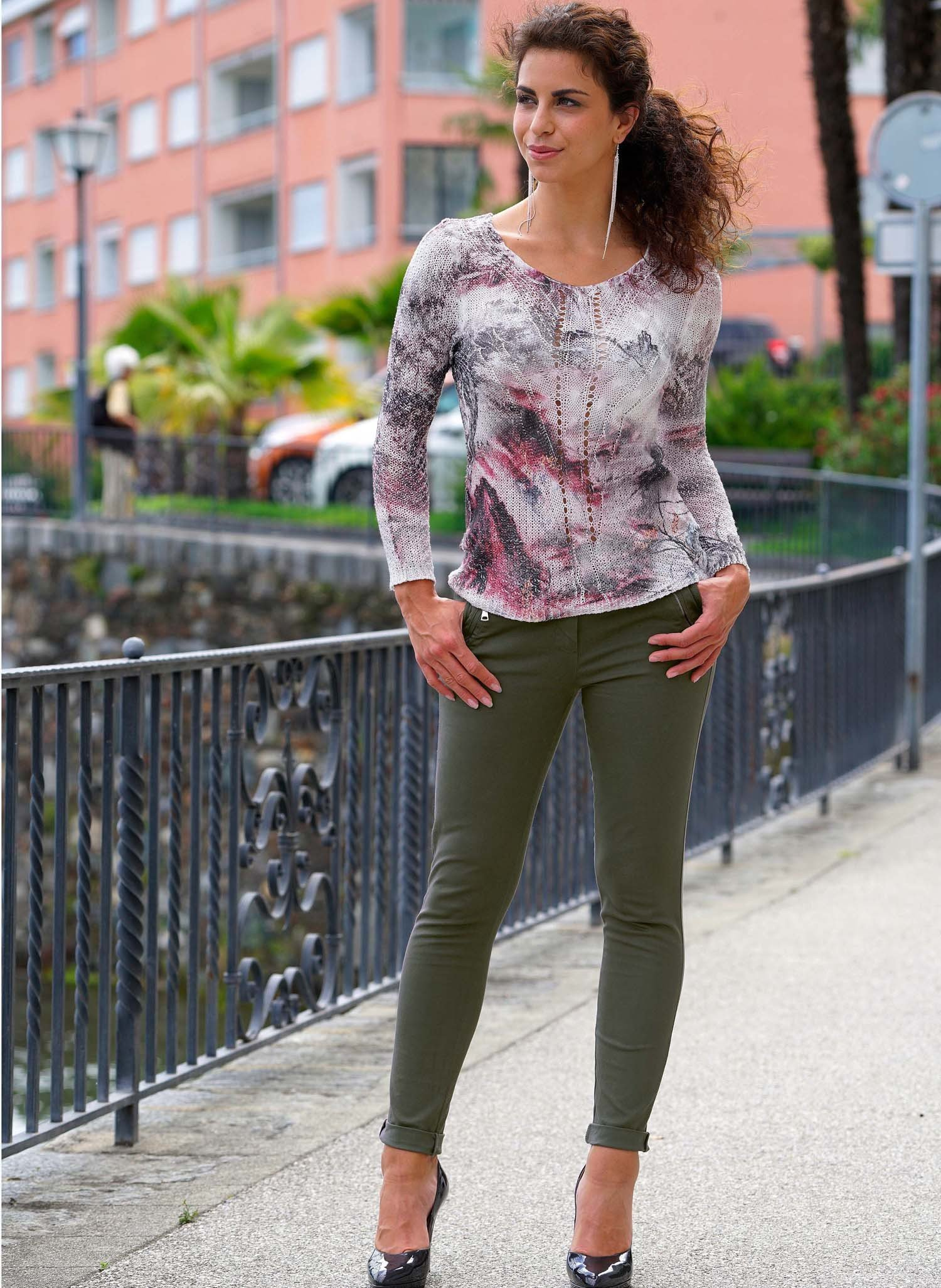D-Pullover,Zopfmuster rosa/ant XL 134 - 2 - Ronja.ch