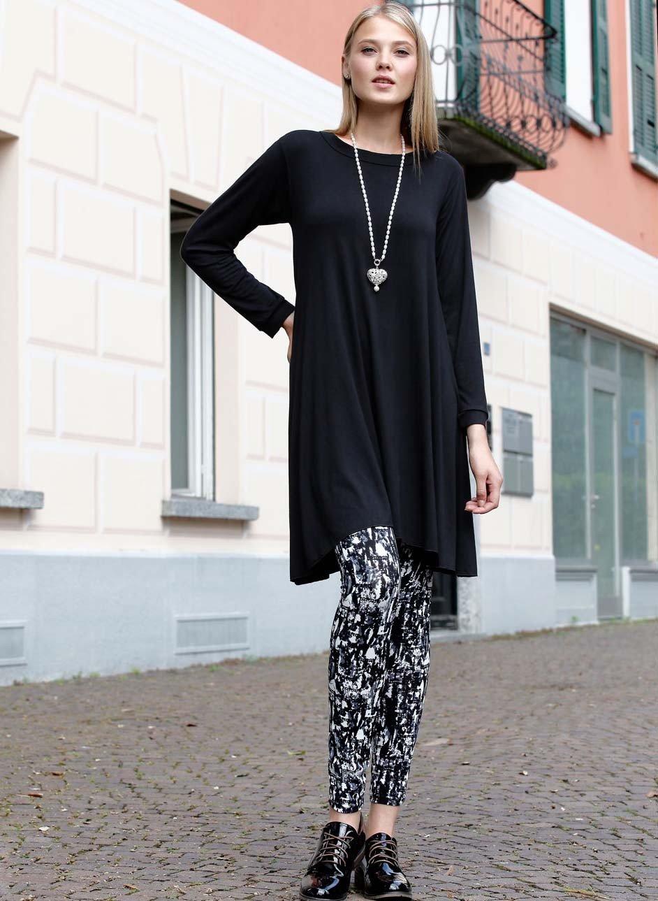 Leggings Grafikprint schwarz/grau/weiss