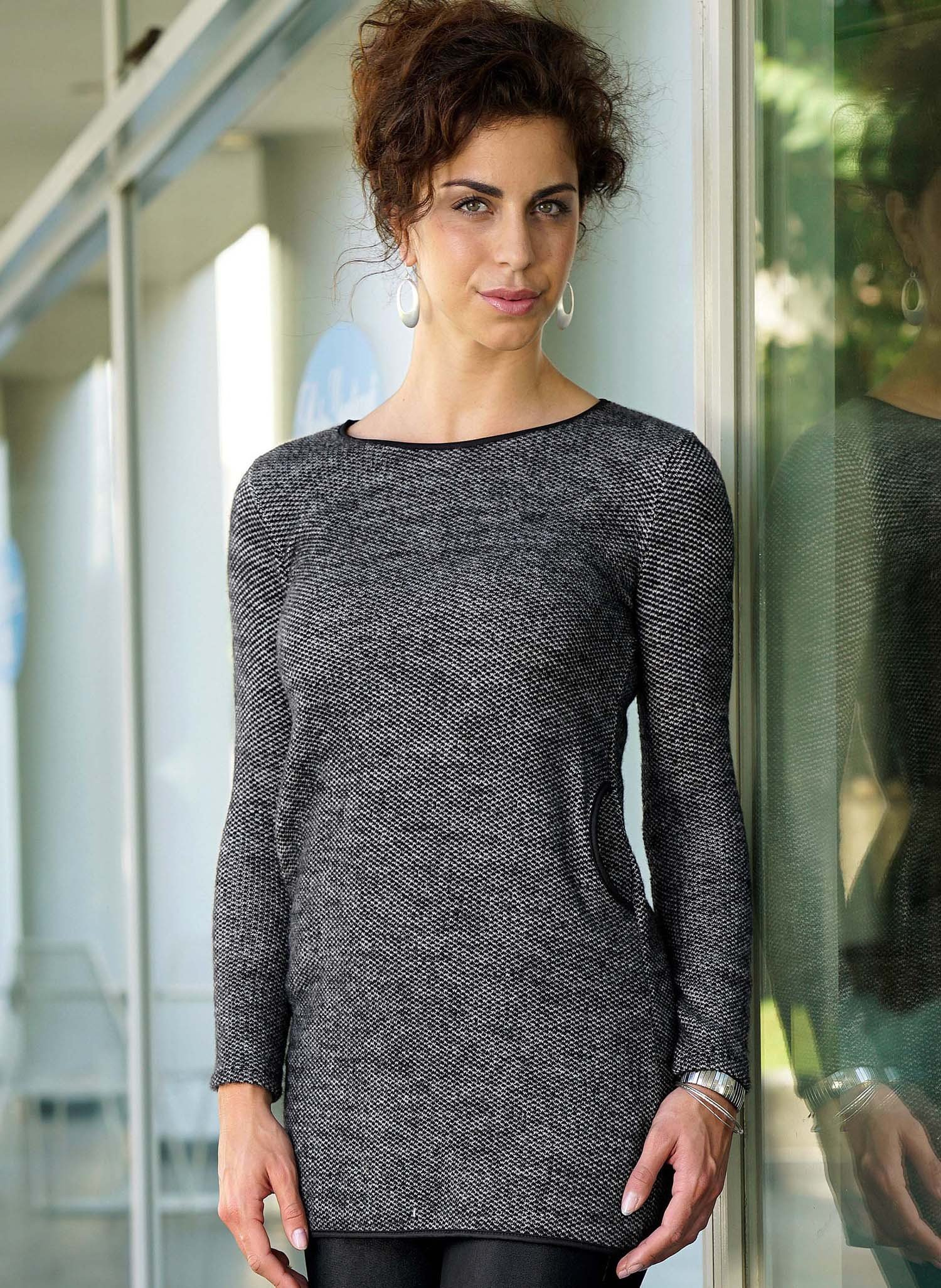 D-Longtop/Kleid,  anthracite XL 013 - 1 - Ronja.ch