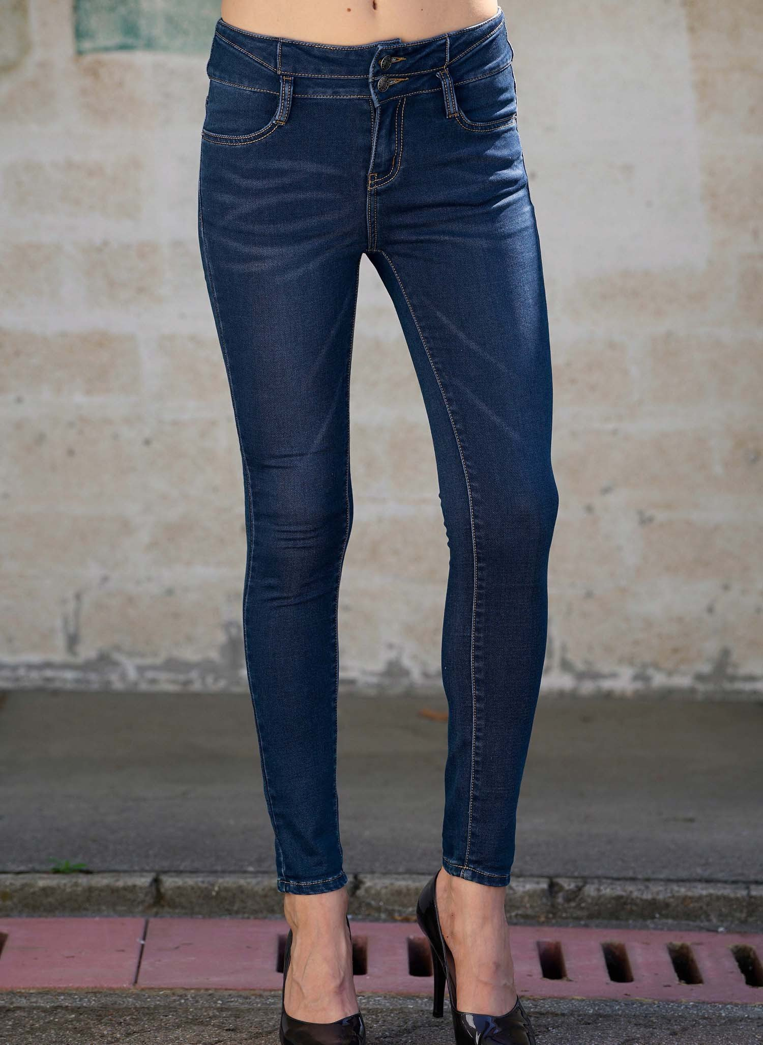 D-Jeans,Doppelknopf Blue-Denim 44 050 - 2 - Ronja.ch