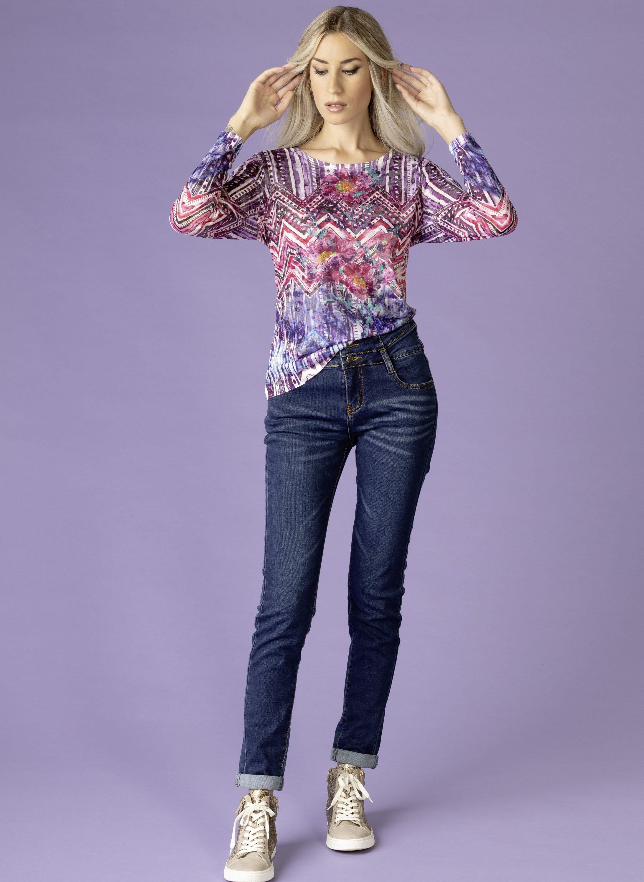 5-Pocket-Jeans Dopppelknopf, Sitzfalten