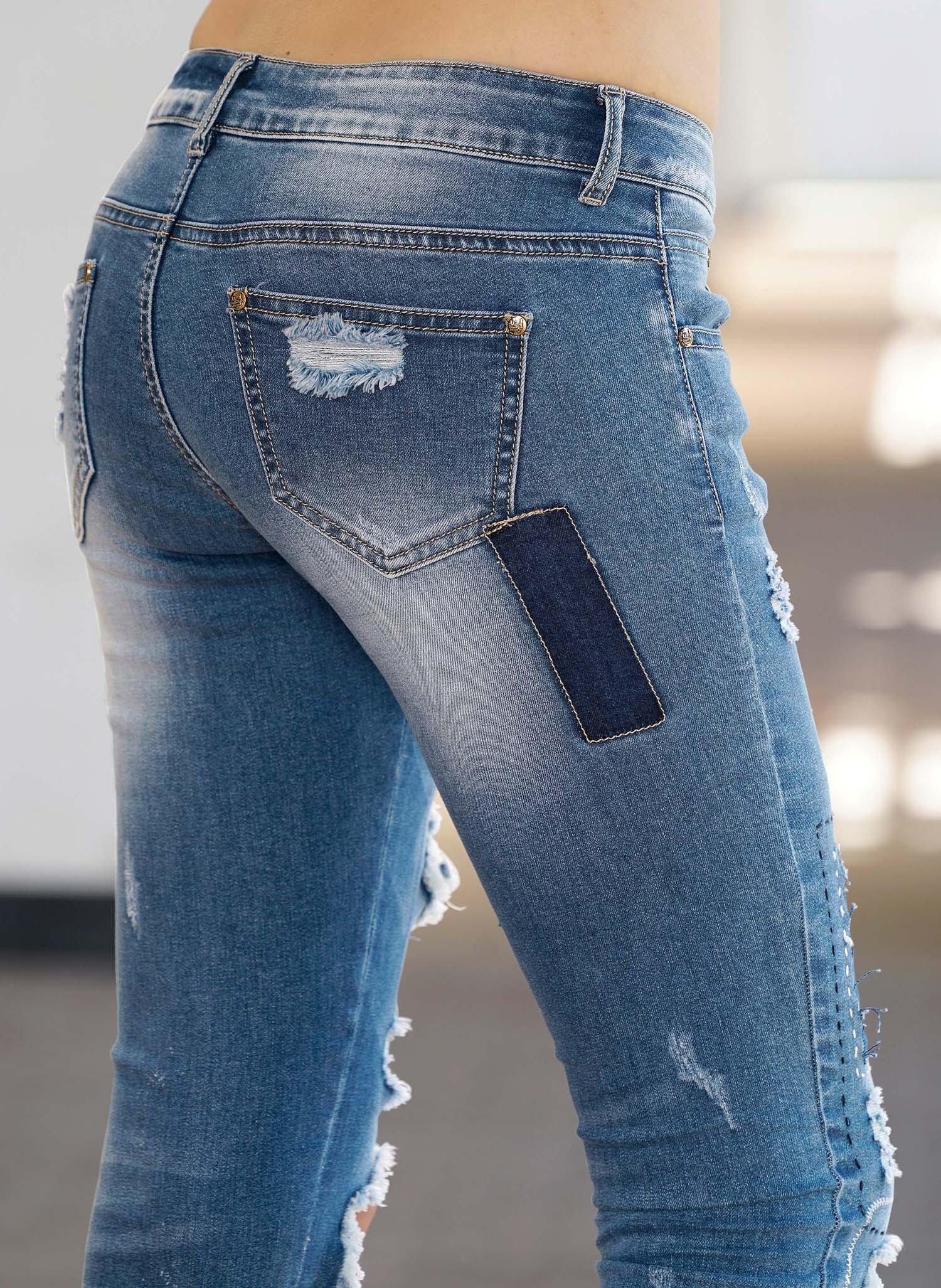 D-Jeans,Lochapplikation.Blue-D 44 050 - 2 - Ronja.ch