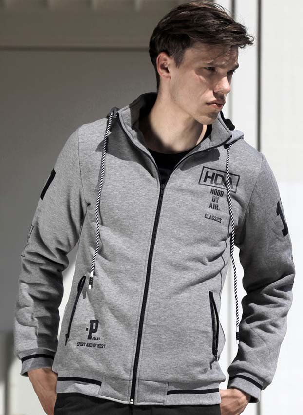 Sweat-Jacke Imitatfell, Fotoprint