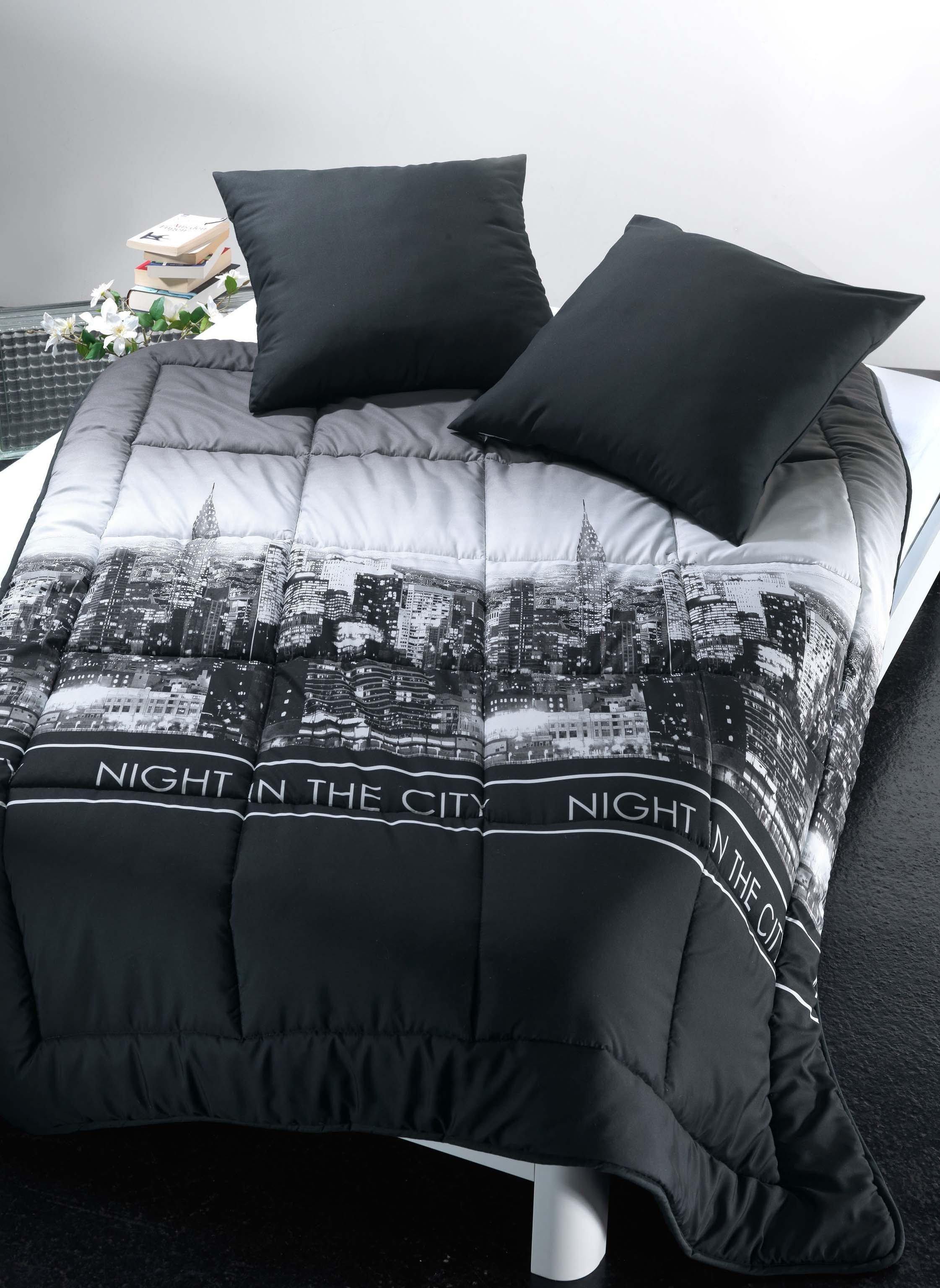 """Bettüberwurf """"NIGHT IN THE CITY"""" - Decken / Überwürfe"""