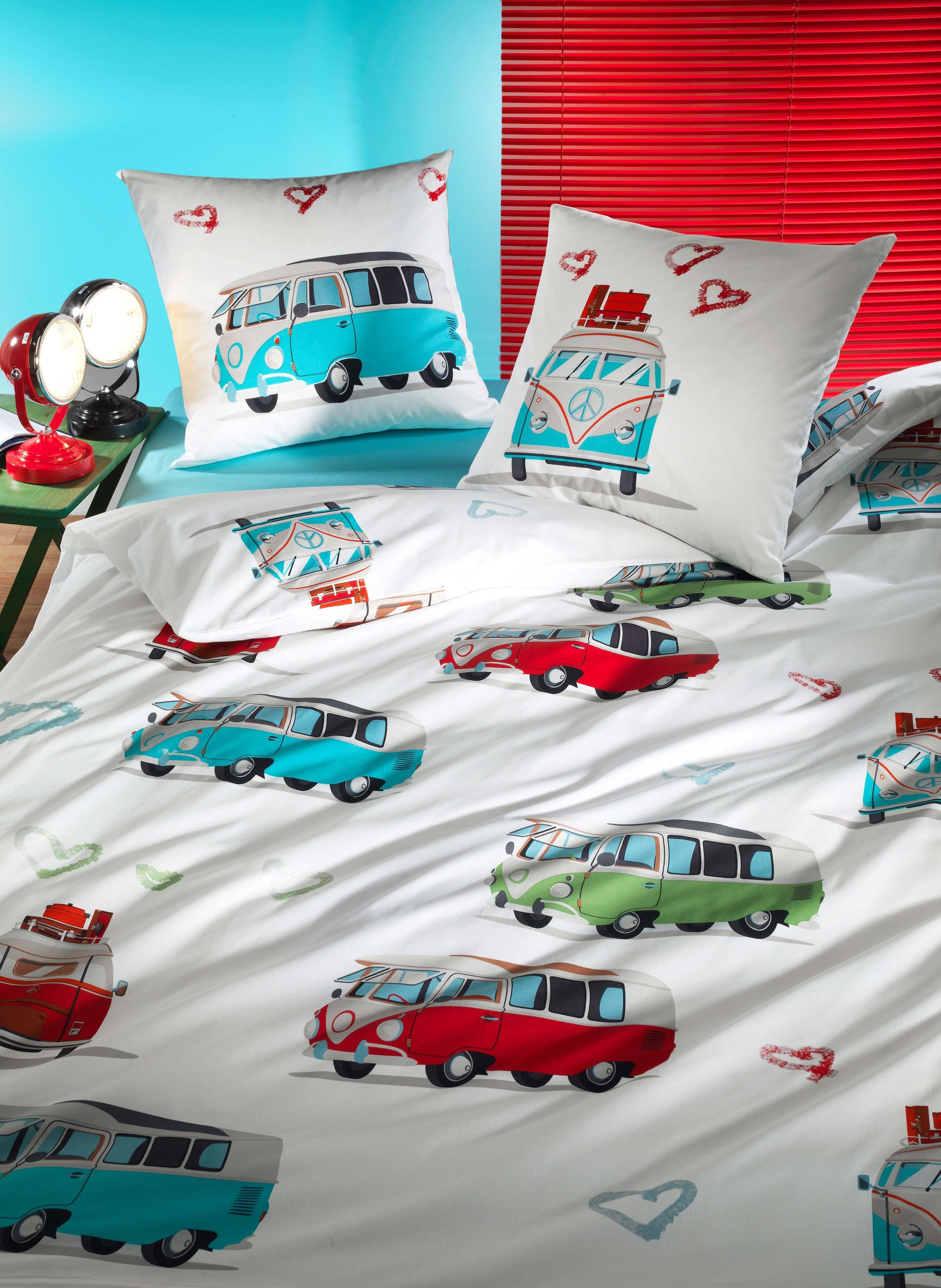bettw sche garnitur hippie bus. Black Bedroom Furniture Sets. Home Design Ideas