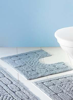 WC-Vorl.m/A.Struk.grau 55x45cm