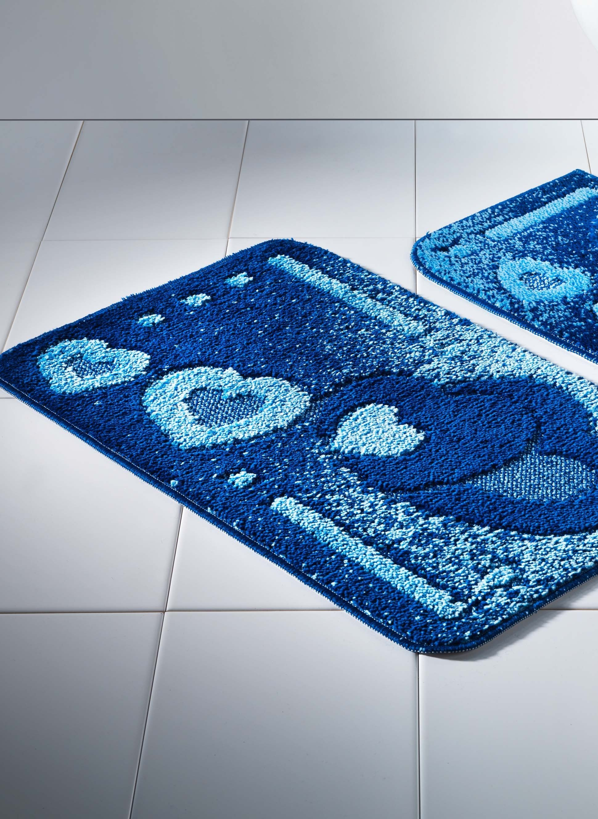 Bad/WC-Garn.Herz-D.2t.o.A.blau