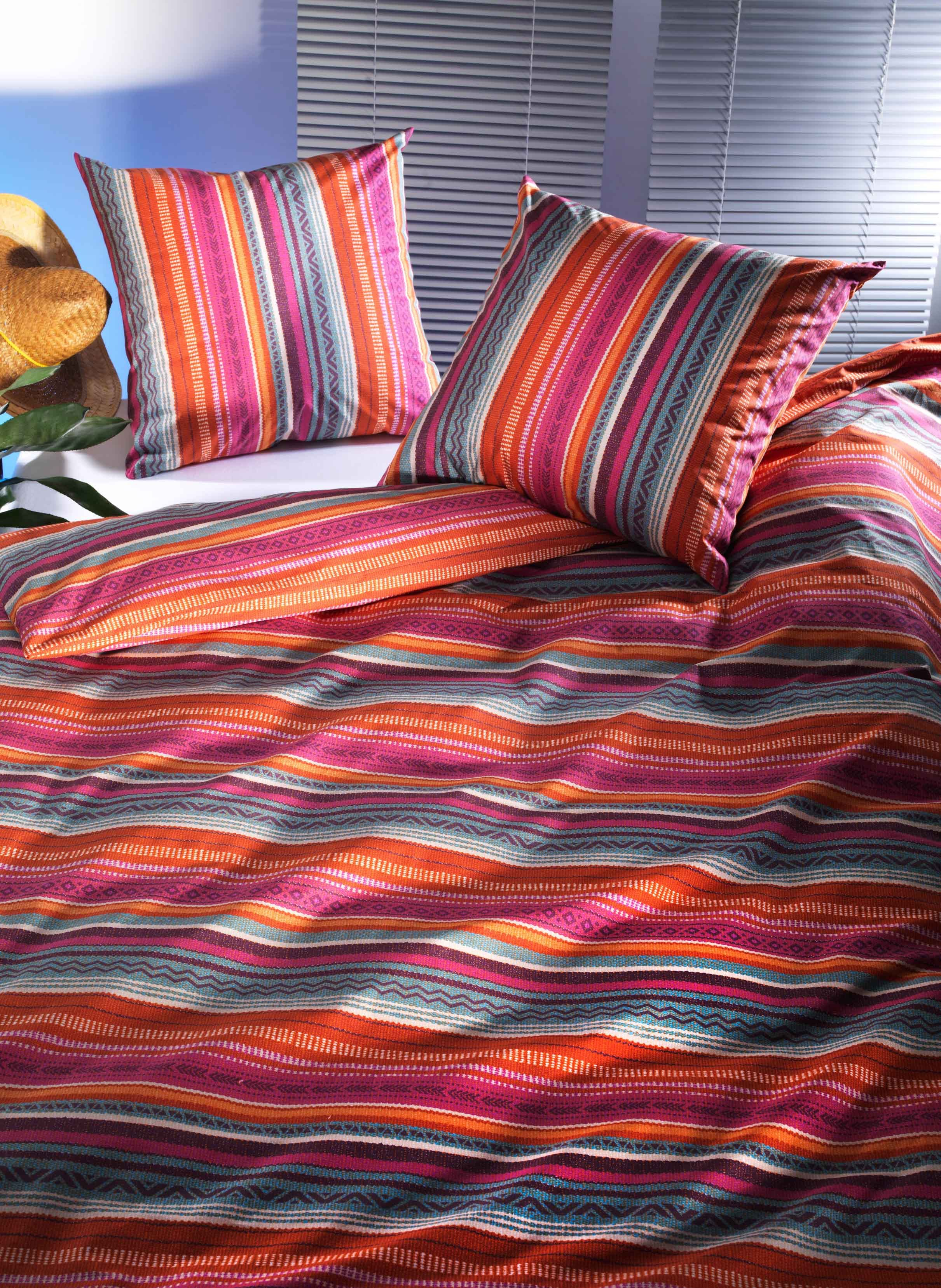 "Duvet ""MEXICO""135x170 rot/pink"