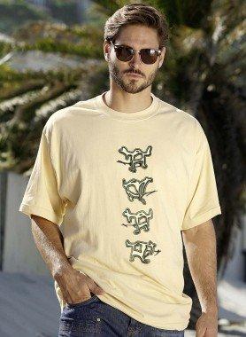 Kurzarm-Shirt, Comic-Print