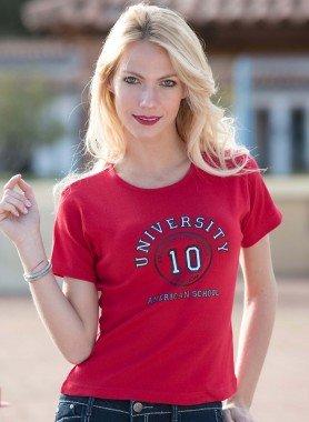 Kurzarm-Shirt Univerity