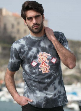 Kurzarm-Shirt, Batik/China