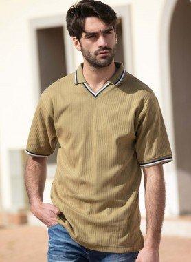 Kurzarm-Shirt, V-Polo