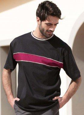 Kurzarm-Shirt-Querstreifen