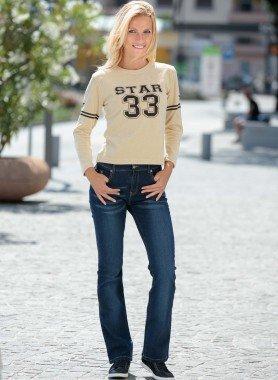 5-Pocket-Jeans, Denim Mustache-washed