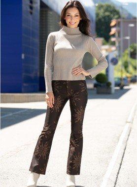 Jeans, Batik-Stern-Motiv
