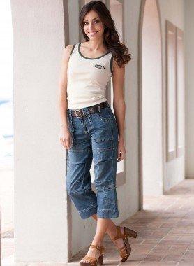 7/8 Jeans, Stoffgurt