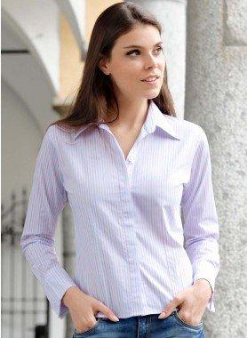 Langarm-Bluse, Colors-Streifen
