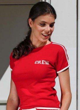 "Kaurzarm-Shirt ""CREW"""