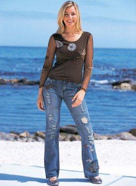 4-Pocket-Jeans Kupfernieten