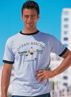 """H-KA-Shirt """"Ocean-Rescue"""" ciel L"""