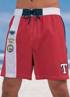 Bermuda-Shorts, Elastbunt