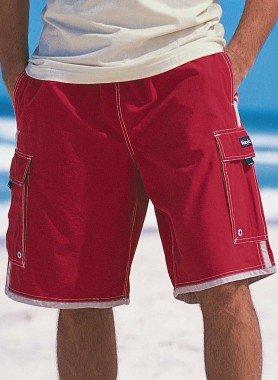 Bermuda-Shorts, Reissverschluss