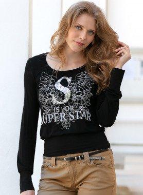 Langarm-Top Super-Star