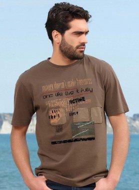 Kurzarm-Shirt, Schriftprint