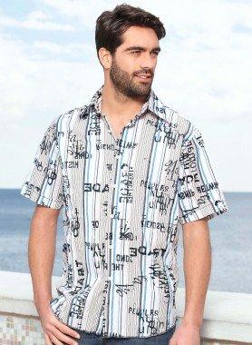 Kurzarm-Hemd,Knitter-Look