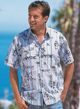 Kurzarm-Hemd, Knitter-Look
